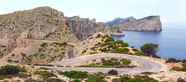 Cape Formentor on island Majorca, Spain. Stock Images