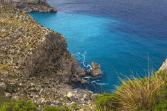 Cape Formentor in Majorca, Balearic island, Spain Royalty Free Stock Images