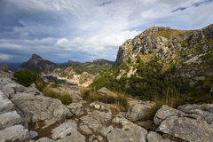 Cape Formentor in Majorca, Balearic island, Spain Stock Images