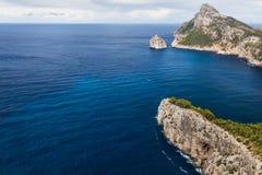 Cape Formentor in Majorca, Balearic island, Spain. Cape Formentor in Mallorca, Balearic island, Spain Stock Photos