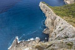Cape Formentor in Majorca, Balearic island, Spain Royalty Free Stock Photos