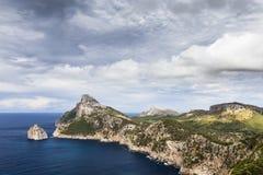 Cape Formentor in Majorca, Balearic island, Spain Stock Photos