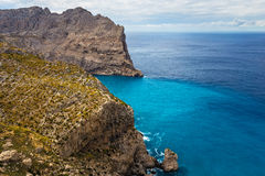 Cape Formentor in Majorca, Balearic island, Spain. Cape Formentor in Mallorca, Balearic island, Spain Royalty Free Stock Images