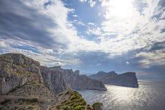 Cape Formentor in Majorca, Balearic island, Spain Royalty Free Stock Image