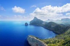 Cape Formentor in Mallorca. Balearic island, Spain Royalty Free Stock Photo