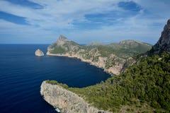 Cape Formentor, Mallorca. Cape Formentor in Mallorca, Balearic island, Spain Stock Photos