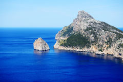 The Cape Formentor in Mallorca island. Spain Stock Images