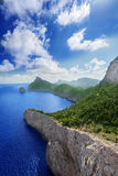 Cape Formentor in Mallorca vertical. Cape Formentor in Mallorca, Balearic island, Spain Royalty Free Stock Image