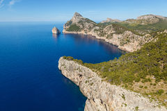 Cape Formentor on the north of Mallorca Stock Image