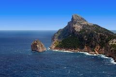 Cape formentor rock in Mallorca Royalty Free Stock Photos