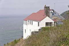 Cape Foulweather lookout Oregon coast landmark. Cape Foulweather lookout landmark in the Oregon coast Royalty Free Stock Image