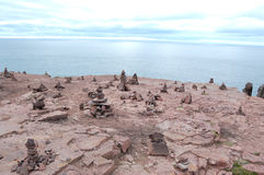 Cape frehel, rock pile Royalty Free Stock Photography