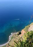 Cape girao. View from Cabo Girao ( Cape Girao), second highest cliff in the world, in Madeira Island Royalty Free Stock Photos