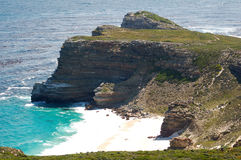 Cape of Good Hope. Famous because of the Portuguese trips in century XV royalty free stock photography