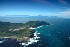 Cape of Good Hope. The Cape of Good Hope (and Cape Point) is often thought of as being the southernmost point in Africa, and the dividing point between the Royalty Free Stock Image