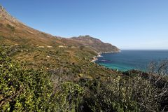 Cape of Good Hope in the Atlantic Ocean, south of Cape Town, South Africa. Royalty Free Stock Image