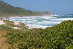Cape of Good Hope with breakers and beach. Stock Photos