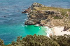 Cape of Good Hope. Cape Peninsula Atlantic ocean. Cape Town. South Africa. View from Cape Point stock image