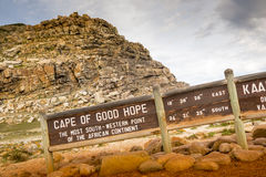 Cape of Good Hope Sign. Sign for the Cape of Good Hope, Cape Peninsula, South Africa Stock Photography