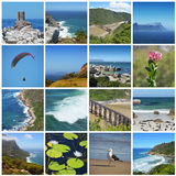 Cape of good hope - south africa  collage Royalty Free Stock Image