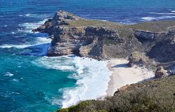Cape of Good Hope. View from Cape point royalty free stock image