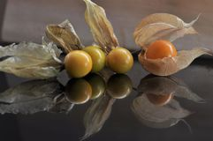 Cape gooseberry fruit. Organic food vegetable golden berry tasty stock images