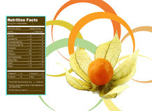 Cape gooseberry nutrition facts Royalty Free Stock Photography