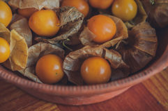 Cape gooseberry & Physalis& healthy fruit stock photo