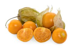 Cape gooseberry physalis isolated on white background stock photo