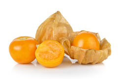 Cape gooseberry, physalis isolated on white background Royalty Free Stock Image
