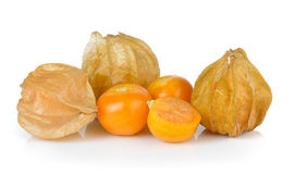 Cape gooseberry, physalis isolated on white background Royalty Free Stock Photography