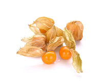 Cape gooseberry (physalis) isolated on white background. Stock Image