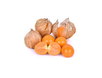 Cape gooseberry, physalis isolated on white background Stock Photos