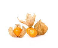 Cape gooseberry (physalis) isolated on white background.  Stock Photo