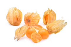 Cape gooseberry,physalis isolated on white background Royalty Free Stock Photography