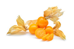 Cape gooseberry,physalis isolated on white background Stock Images