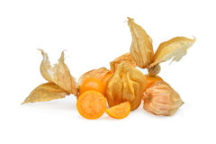 Cape gooseberry,physalis isolated on white Royalty Free Stock Photos