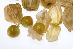 Cape Gooseberry. On white background Royalty Free Stock Photography