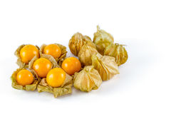 Cape gooseberry on white background Royalty Free Stock Photography