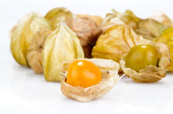 Cape gooseberry on white background Royalty Free Stock Images