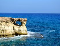Cape Greco in Cyprus. And sea Royalty Free Stock Photos