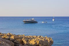 Cape Greco Cyprus at sunset Royalty Free Stock Photo