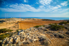 Cape Greco landscape Stock Images