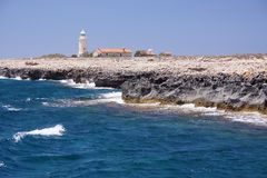 Cape Greco Lighthouse Royalty Free Stock Photo