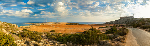 Cape Greco panorama Stock Photo