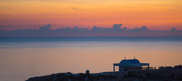 Cape Greco panoramic view at sunrise Royalty Free Stock Image