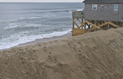 Cape Hatteras Beach Piled Up Sand Storm Barrier Royalty Free Stock Photography