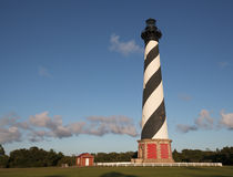 Cape Hatteras Lighthouse Landscape  Buxton NC. The Cape Hatteras lighthouse is the tallest lighthouse in the nation and a famous symbol of North Carolina.  With Royalty Free Stock Photo