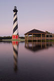 Cape Hatteras Lighthouse Morning Reflection Stock Image