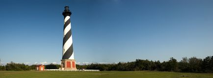 Cape Hatteras Lighthouse Pano. Panorama Royalty Free Stock Photos